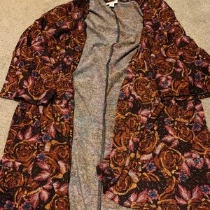Lularoe Rose Open Cardigan Sz M